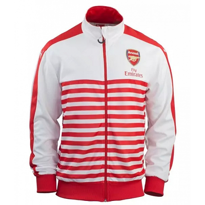 Arsenal FC 2015-16 Soccer Jersey Training Jacket (White/Red)